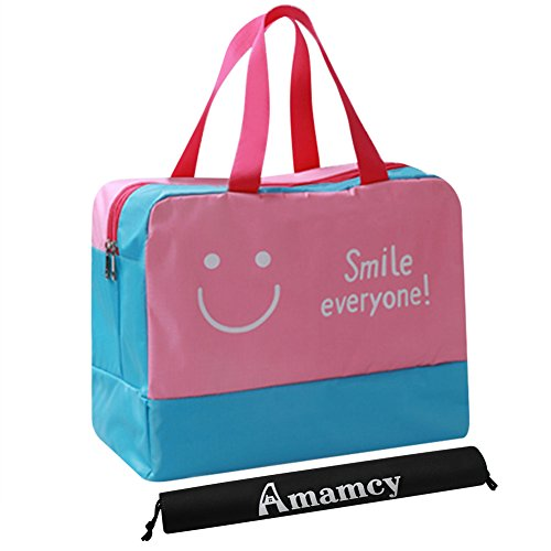 Amamcy Dry Wet Depart Bags, Beach Tote Waterproof Nylon Handbag Toiletry Cosmetic Travel Storage Bag with Shoes Organizers from Amamcy