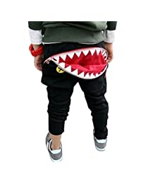 YLTkids Unisex Little Boy Girls Teeth Zipper Harem Pants Trousers Sweatpants