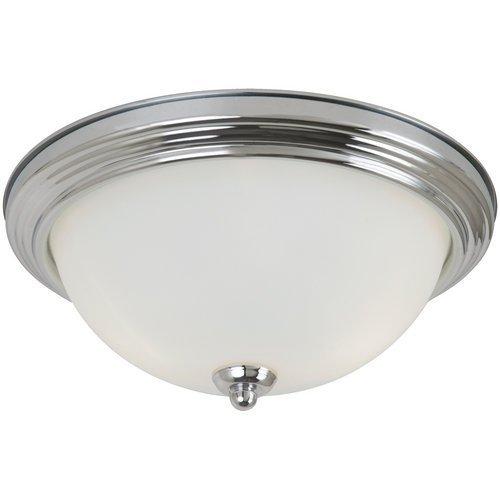 Seagull 77063-05 One 77063-05-One Light Ceiling Flush Mount, Chrome