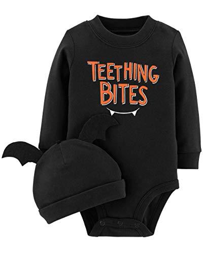 Carter's 2-Piece Pumpkin Hat and Collectible Bodysuit (6 Months, Black) ()