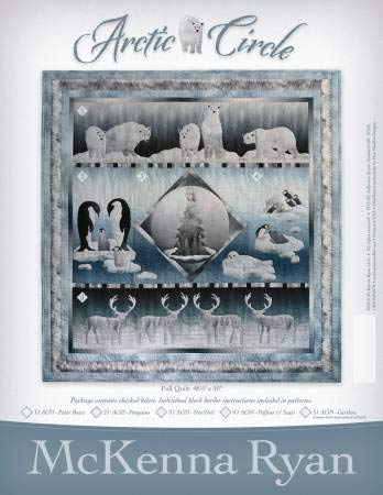 McKenna Ryan/Pine Needles Design, All Five Patterns in The Arctic Circle BOM Applique Quilt Collection - (Finished Project Size is 48.5'' x 50'') by McKenna Ryan