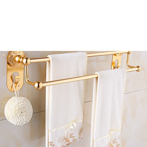 30%OFF European style Towel rack/Double pole towel rack/Space aluminum bathroom accessories/Metal-bathroom/shelf/wall mounted rack-C