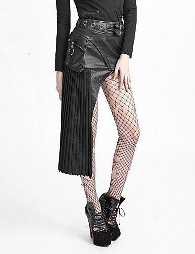 GSP-Damen Röcke - Sexy / Bodycon Asymmetrisch Baumwolle / Leinen / Polyester / PU Mikro-elastisch