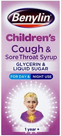 Benylin 125 Ml Cough And Sore Throat Syrup Amazon Co Uk Health Personal Care