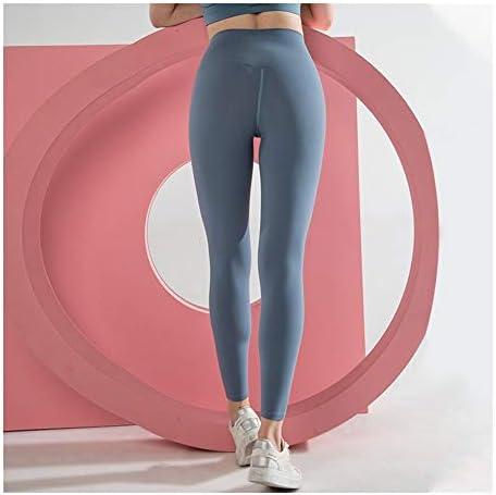 ジムサイクリングデイリーレジャー用タイツワークアウトヨガレギンスおなかコントロールフィットネスタイツを実行している女性ヨガパンツハイウエストストレッチ (Color : ブルー, Size : L)