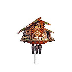 August Schwer Authentic Black Forest Cuckoo Clock The Hunters Farmhouse 8-Day Movement with Music