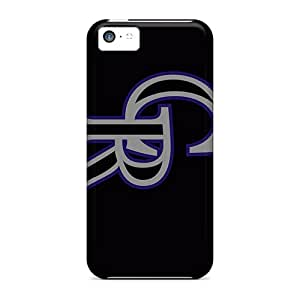 Protective Hard Phone Cases For Iphone 5c With Custom Trendy Colorado Rockies Pattern ColtonMorrill