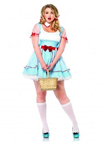 Oz Beauty Plus Size Costumes (2 PC. Ladies OZ Beauty Dress - 3XL/4XL - Blue/White)