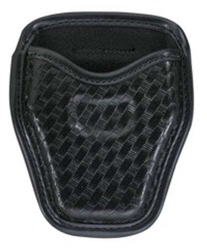 Model 7934 AccuMold Elite Open Handcuff Case, Basket Weave Duraskin, Black Finish