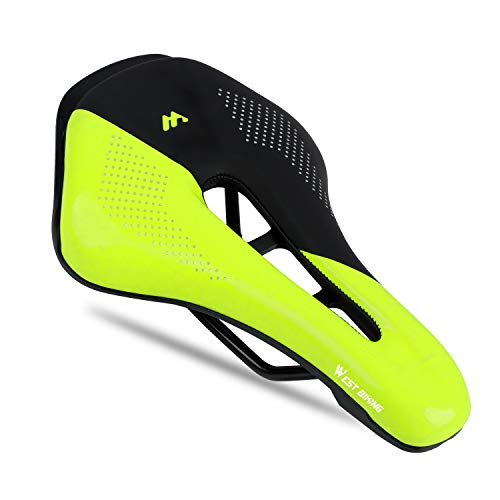 - WESTGIRL Professional Bike Seat, Comfortable Suspension Gel Bicycle Saddle, PU Breathable Waterproof, Road Bike Saddle for Men Women Cycling Universal Mountain Bike Racing