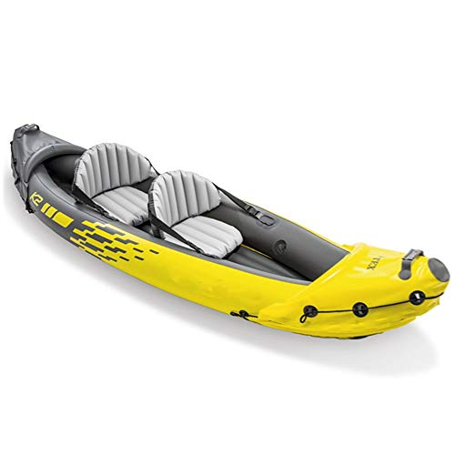 CVEUE OS Kayak Two-Person Inflatable Boat Rubber Rowing Boat Double Assault Boat Drifting to Send Boat Propeller Kayak Paddle Holder