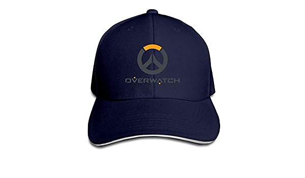 Youaini Overwatch Multiplayer Logo Solid Colors Hat Sandwich Bill Hat
