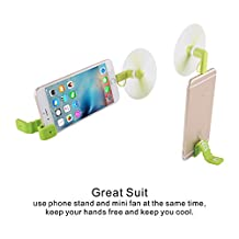 PLENTY 2 in 1 Lightning Two Leaves Portable Dock Cool Cooler Rotating Mini Phone Fan for 8 Pin Lightning Apple iPhone & Micro USB with Silicone Multi-Function Magnetic Clip