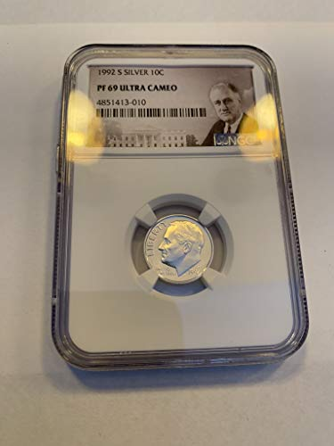 Ngc Dimes - 1992 S Roosevelt Dime Dime PF69 Ultra Cameo NGC