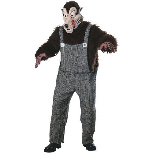 Big Bad Wolf Mascot Adult Costume - Standard -