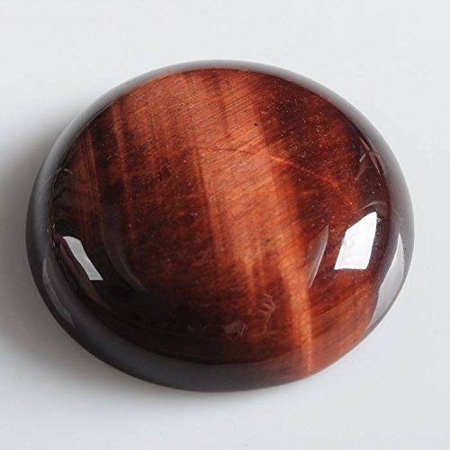 Wholesale 25mm Round cabochon CAB flatback semi-precious gemstone (Red tiger eye)