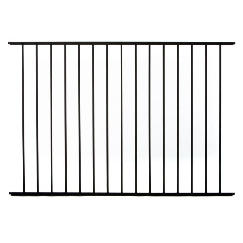 Specrail DIY Fence RR9482BL Bethany Aluminum 2-Rail Fence Panel, 48-Inch by (Wrought Iron Aluminum Fence)