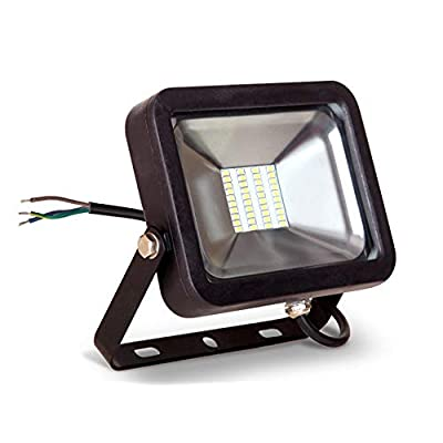 LLT 20W LED Flood Light Outdoor - 1500lm 5000K Daylight SMD - Compact LED Security Floodlight for Landscape - Waterproof- Black Finish - Aluminum and Tempered Glass: Home Improvement