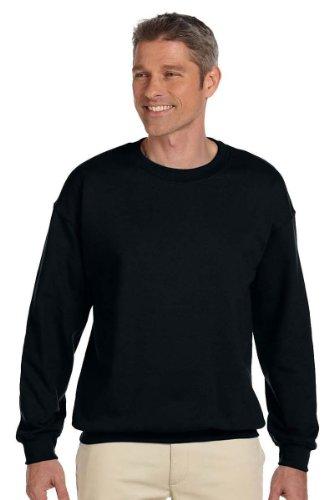 JERZEES SUPER SWEATS - Crewneck Sweatshirt. 4662M - Large - Black (Crewneck Sweats Super Sweatshirt)