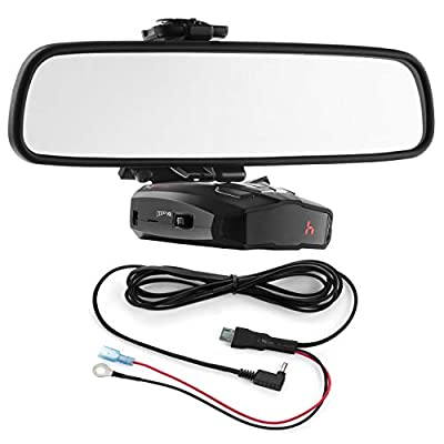 Radar Mount Mirror Mount Bracket + Direct Wire Power Cord for Cobra Radar Detectors (3001203): Radar Mount: Car Electronics