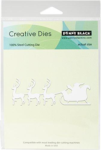 Penny Black Series Creative Dies 51-401 Santa's Sleigh