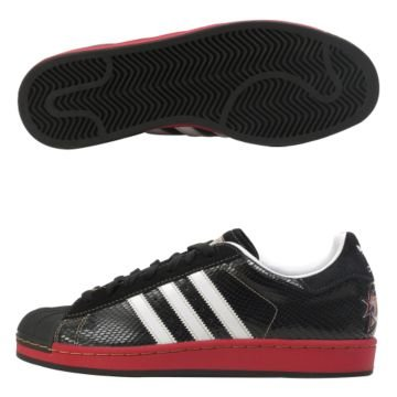 Adidas Men's Superstar 1 NBA Series - Philadelphia 76ers (black / r white / university red)-11.0 by adidas Originals