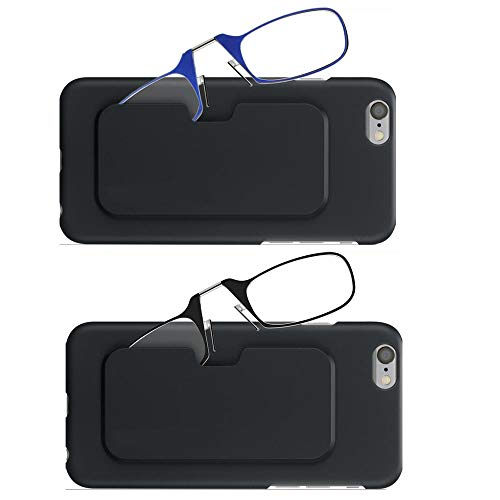 40af9858a732 Ultra Light Reading Glasses 1.0 for Men 2 Pack Thin Nose Resting Pinching  Readers with Pod