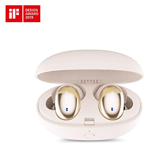 1MORE Stylish True Wireless in-Ear Headphones - Bluetooth - 6.5 Hours of Battery - 15-Minute Quick Charge for 3 Hours of Use - Portable Charging Headphone Case Included - True Wireless Earphones