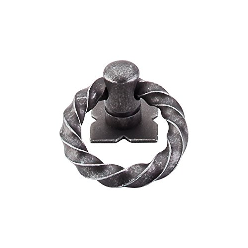 Top Knobs M640 Normandy Twisted Ring Pull Steel