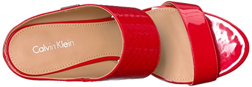 Calvin Klein Womens Cecily Dress Sandal, Lipstick Red, 5 M US