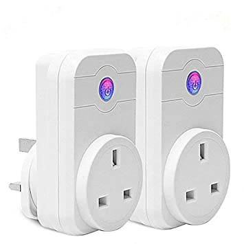 WiFi Smart Plug,Timer Socket Outlet Compatible with Alexa and Google Home,Remote Control Your Household Equipment from Everywhere, No Hub Required (2 Packs) EQONE
