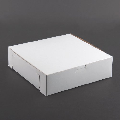 Lot of 10 Bakery or Cake Box WHITE 8x8x2-1/2