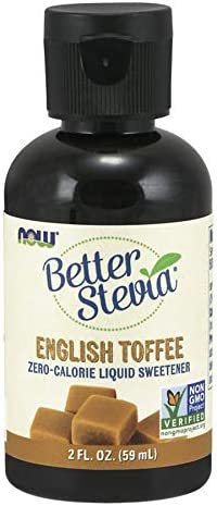 NOW Foods – Better Stevia Liquid Sweetener English Toffee – 2 oz.