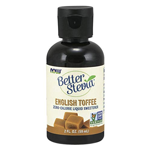 NOW Foods - Better Stevia Liquid Sweetener English Toffee - 2 oz. - Organic English Toffee
