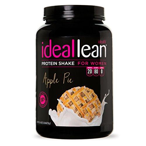 IdealLean, Protein Powder for Women, Apple Pie, 20g Whey Protein Isolate, Calcium, Folic Acid, 0g Sugar, 0g Fat, 0 Carbs, 30 Servings