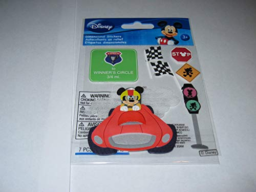(Sticker Scrapbooking Crafts Disney Mickey Mouse Race Car Driver Stop Lights)