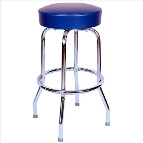 1950s Floridian Swivel Counter Stool Blue/24 by Richardson Seating -