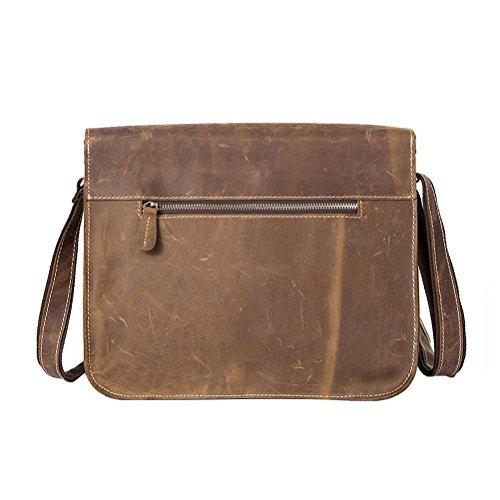 Cuero Vintage Bag 1050 GTUKO Con Crossbody Profundo Hombres Messenger Bolso De Hombro Bolsos Genuino Café De De Bolsas Negro Los De Cremallera Hombre Genuino De Cuero wxvBRw7qA