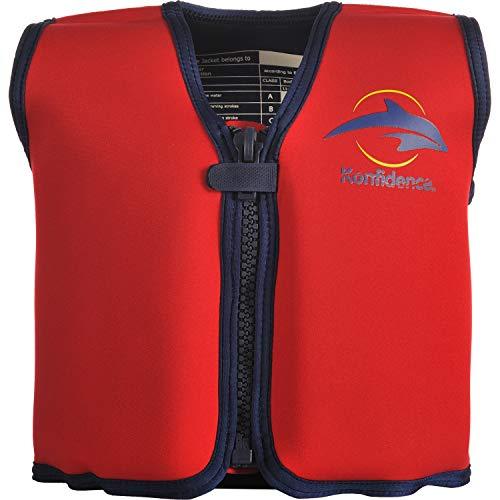Child Neoprene Vest (The Original Konfidence Children's Swim Jacket (Red/Yellow, 18 Months - 3 Years))