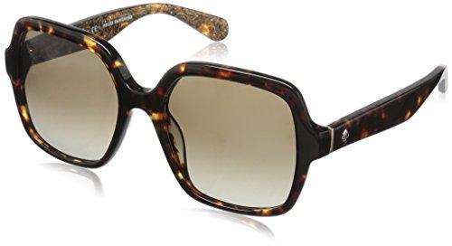Kate Spade Women's Katelee/s Square Sunglasses, Havana Rose Gold Glitter/Brown Gradient, 54 - New Sunglasses York