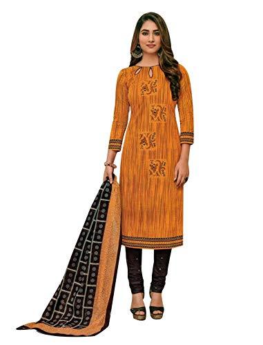 (Ladyline Readymade Pure Cotton Printed Salwar Kameez with Churidar Pants (Size_40/)