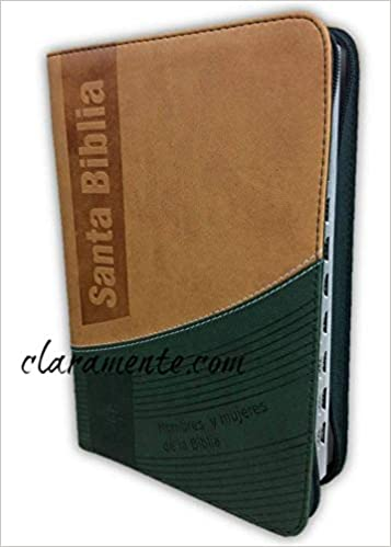 Santa Biblia Hombres y Mujeres de la Biblia, Reina-Valera 1960, tamaño manual con cierre, imitación piel, terracota y verde con índice: Sociedad Biblica ...