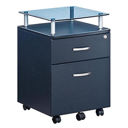modern file cabinet. techni mobili seguro mobile 2 drawer file pedestal in graphite modern cabinet