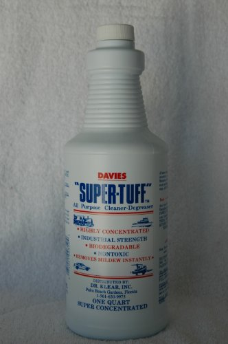 Super-Tuff very highly concentrated industrial cleaner degreaser. Cleans marine canvas, Awnings, Sunbrella, Vinyl upholstery, black streaks, mildew, grease, Truely the BEST degreaser around and still OSHA approved and biodegradable since (Thetford Awning Cleaner)