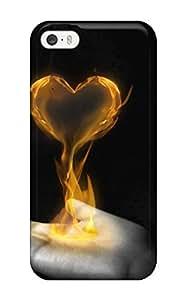 linJUN FENGHigh Grade DanMarin Flexible Tpu Case For Iphone 5/5s - My Flaming Heart