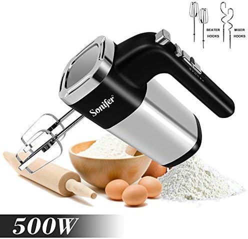 5 vitesses 500W haute puissance mélangeur électrique mélangeur à main mélangeur de pâte batteur à oeufs batteur à main pour cuisine 220V Sonifer | Mixeur