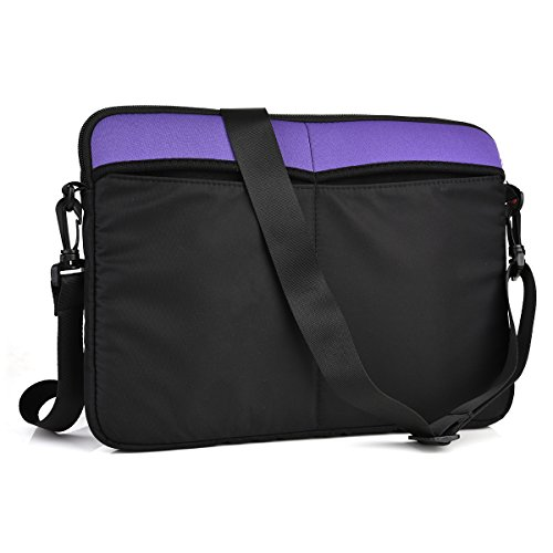 Kroo Nd13scu1 13 3  Messenger Style Neoprene Bag Case With Front And Rear Pockets  Purple