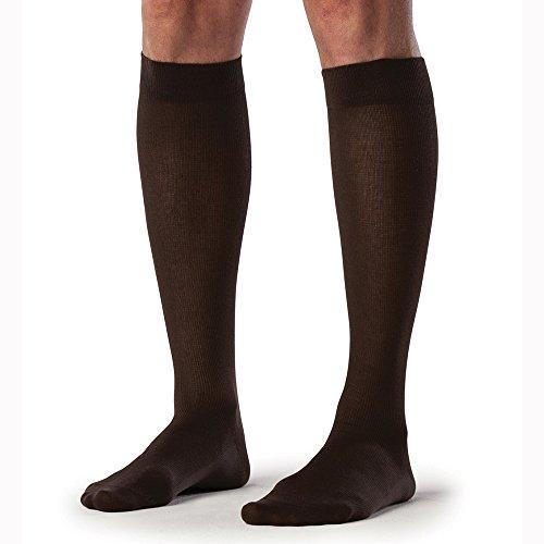 SIGVARIS Men's SEA Island Cotton 220 Calf 20-30mmHg, Black, Large Long
