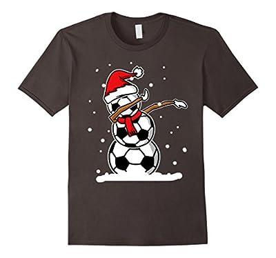 Dabbing Snowman Soccer Christmas Funny T shirt Dab Ball