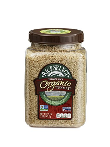 RiceSelect Organic Texmati Rice, Brown, 32-Ounce (Pack of 4) (Riceselect Sushi)